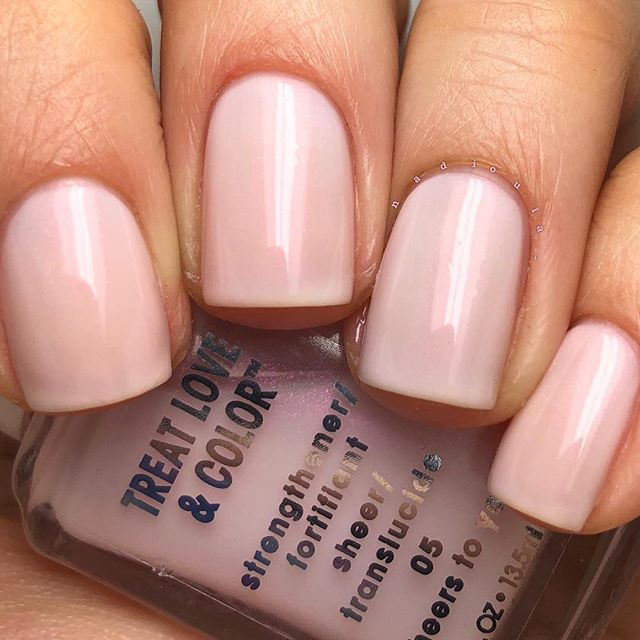 Here\'s a charmingly soft mani by Nadia using her gifted essie Treat ...