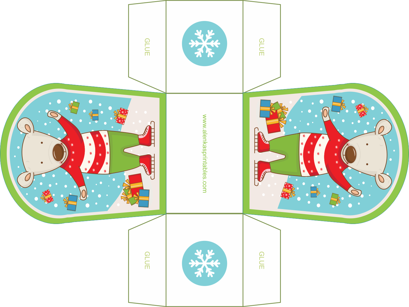 25 Days Of Christmas By Alenka S Printalbes Gift Box Template Christmas Treats Boxes Treat Box Template