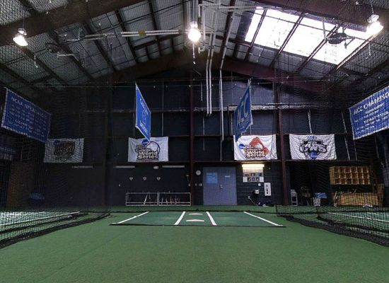 Unc baseball 39 s new indoor hitting facility has one of the for Design indoor baseball facility