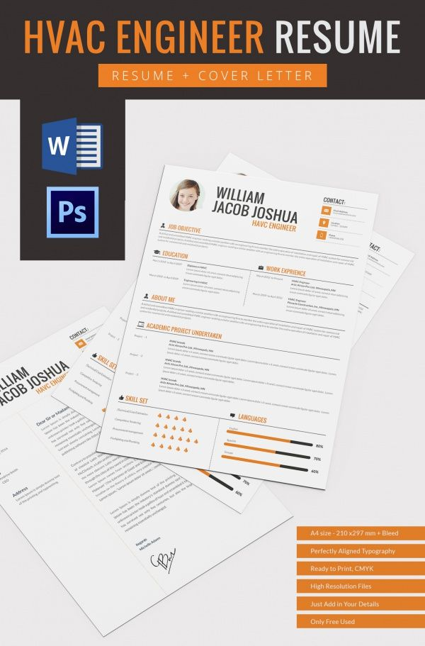 HVAC Engineer Resume Template , Mac Resume Template u2013 Great for - attractive resume templates