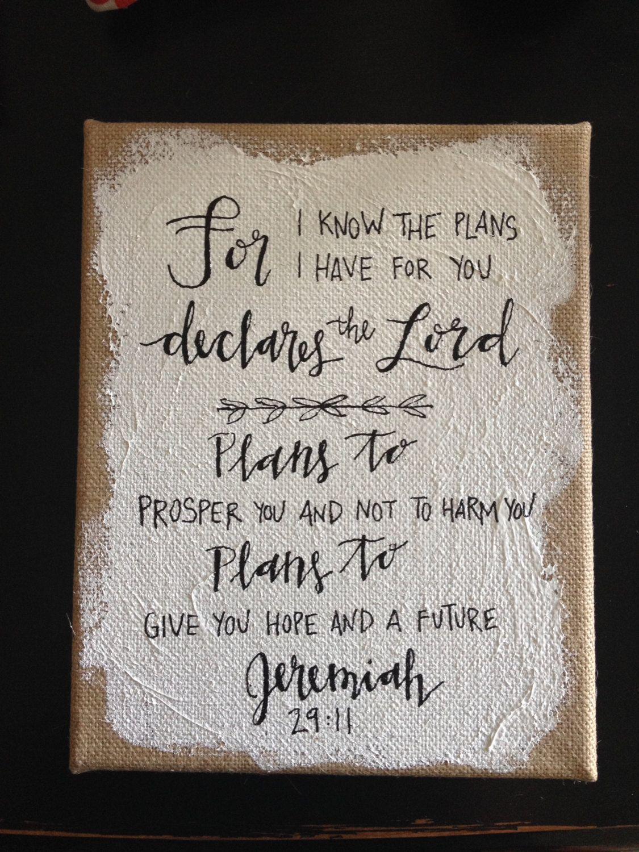 Jeremiah 29 11 Burlap Canvas Burlap Canvas Jeremiah 29