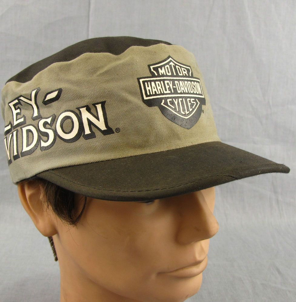 52e367f1fd0 Harley Davidson Vintage Hat Painter Cap Adjustable Motorcycle Gray Made in  USA  HarleyDavidson  PaintersCap