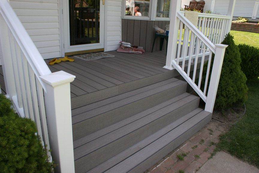 Composite Porch Flooring (Timber Tech) And Vinyl Railing