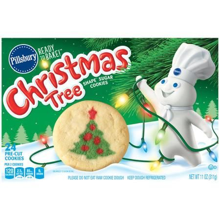 Pillsbury Ready To Bake Christmas Tree Shape Sugar Cookies 24