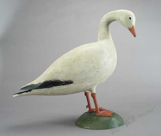Hollow standing snow goose decoy by Jay Miles Upon request