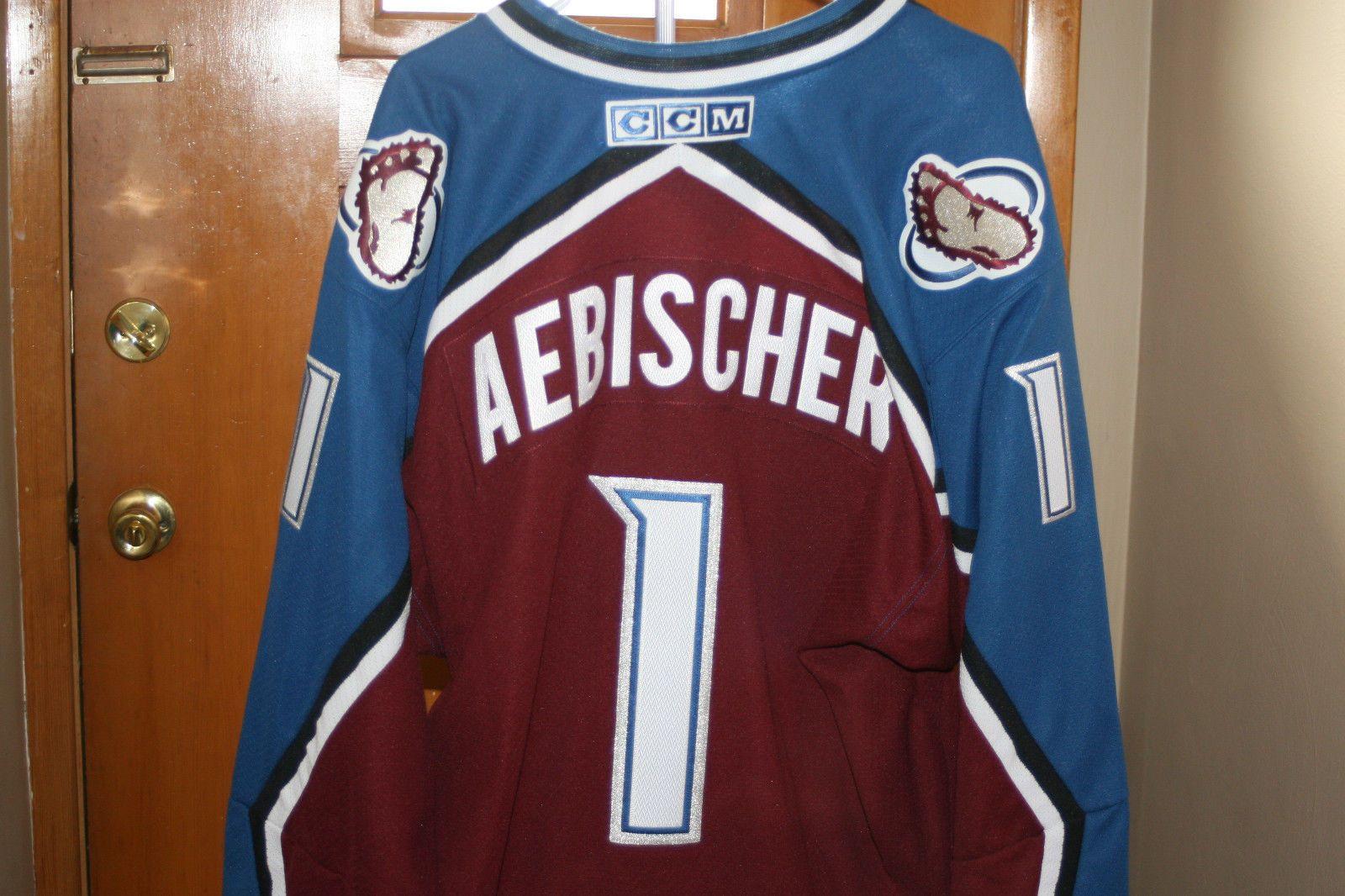 956cbe9a6 DAVID AEBISCHER COLORADO AVALANCHE GOALIE JERSEY CCM NWT VINTAGE RARE NHL  (eBay Link)