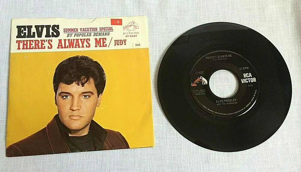Elvis Presley 45 Rpm Rca Victor 47 9287 Judy There S Always Me Photo Cover 1967 Rocknroll Vinyl Records For Sale Music Book Vinyl Records