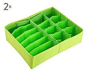 SET de 2 cajas organizadoras de tela, naranja - grande
