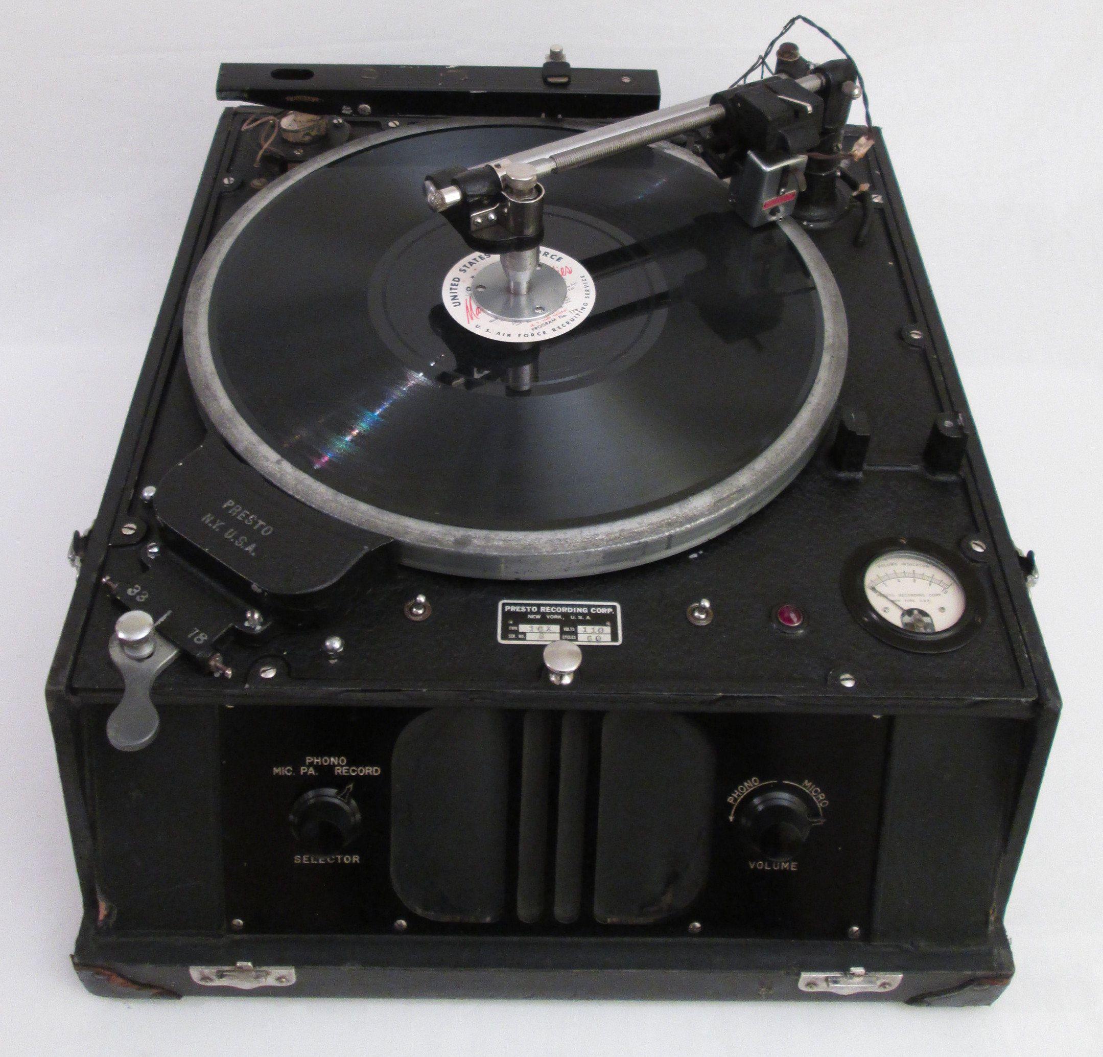 1930 S Presto Portable Gramophone Recording Lathe Record Cutting Machine Lathe Cuts Lathe Vinyl Record Player Vintage Music