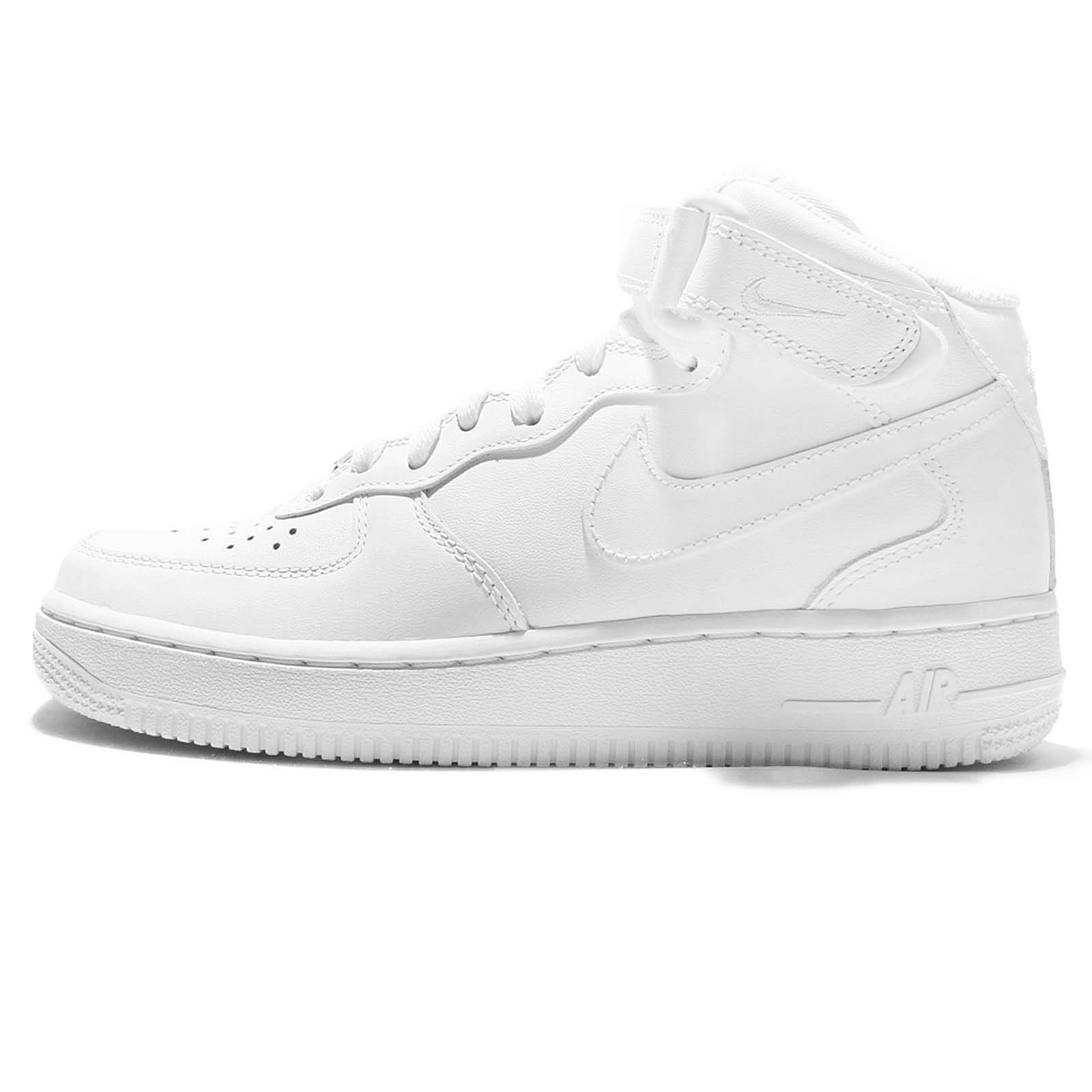 NIKE AIR Force 1 MID 07 LE WMNS Women Trainers White 366731 100 ... 9ebc20d0b