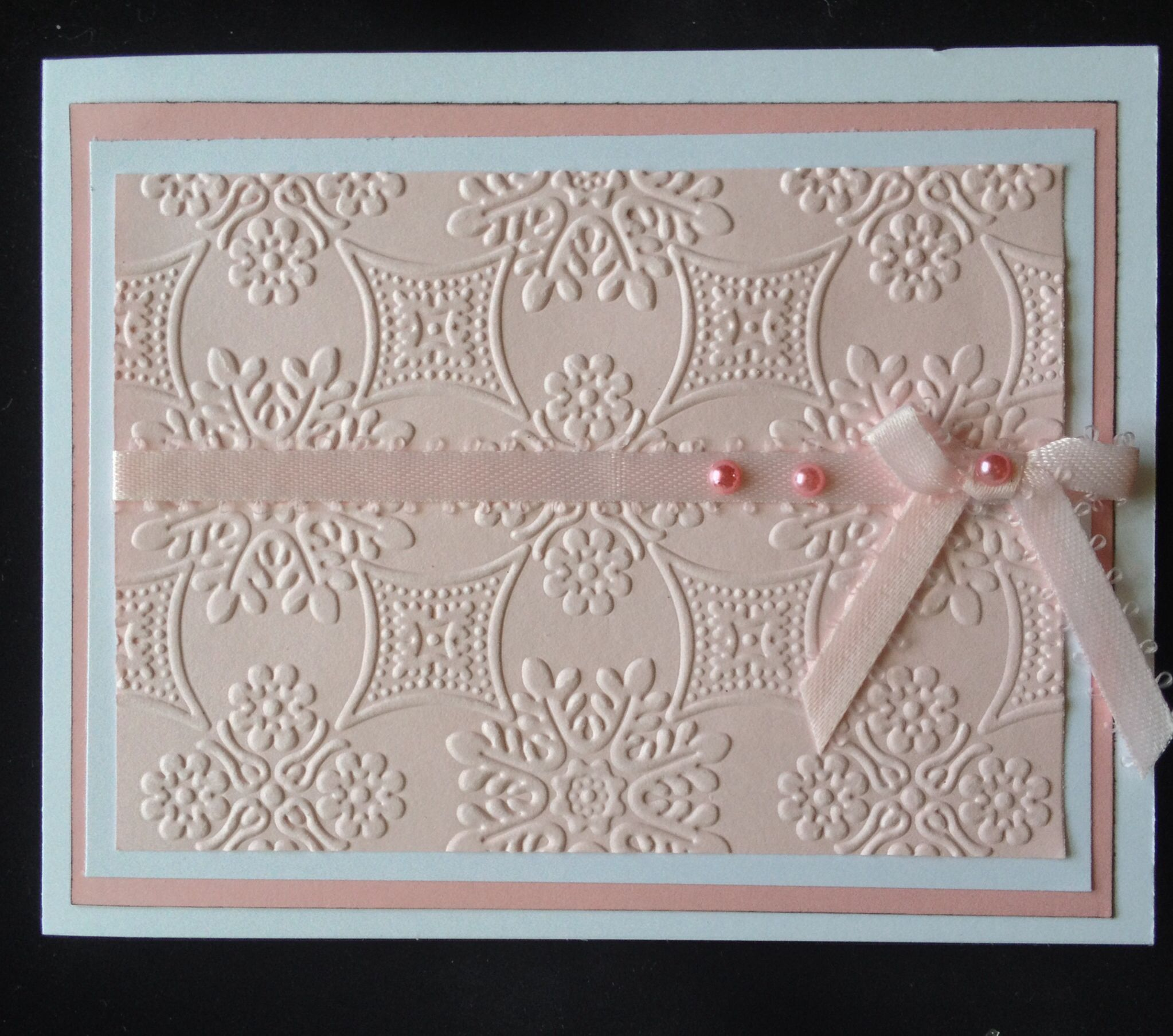 Beautiful Embossed Card Card Was Made Using Anna Griffin S