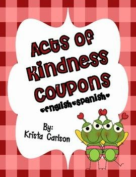 Act Of Kindness Couponsfreebies Character Education Lessons