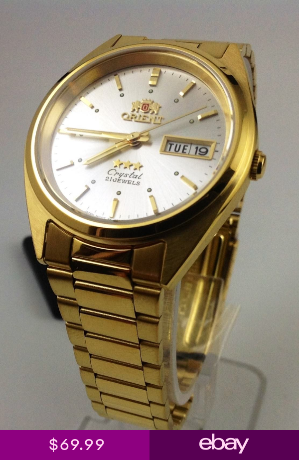 New Orient Mens 3 Star Standard Gold Tone Automatic Watch