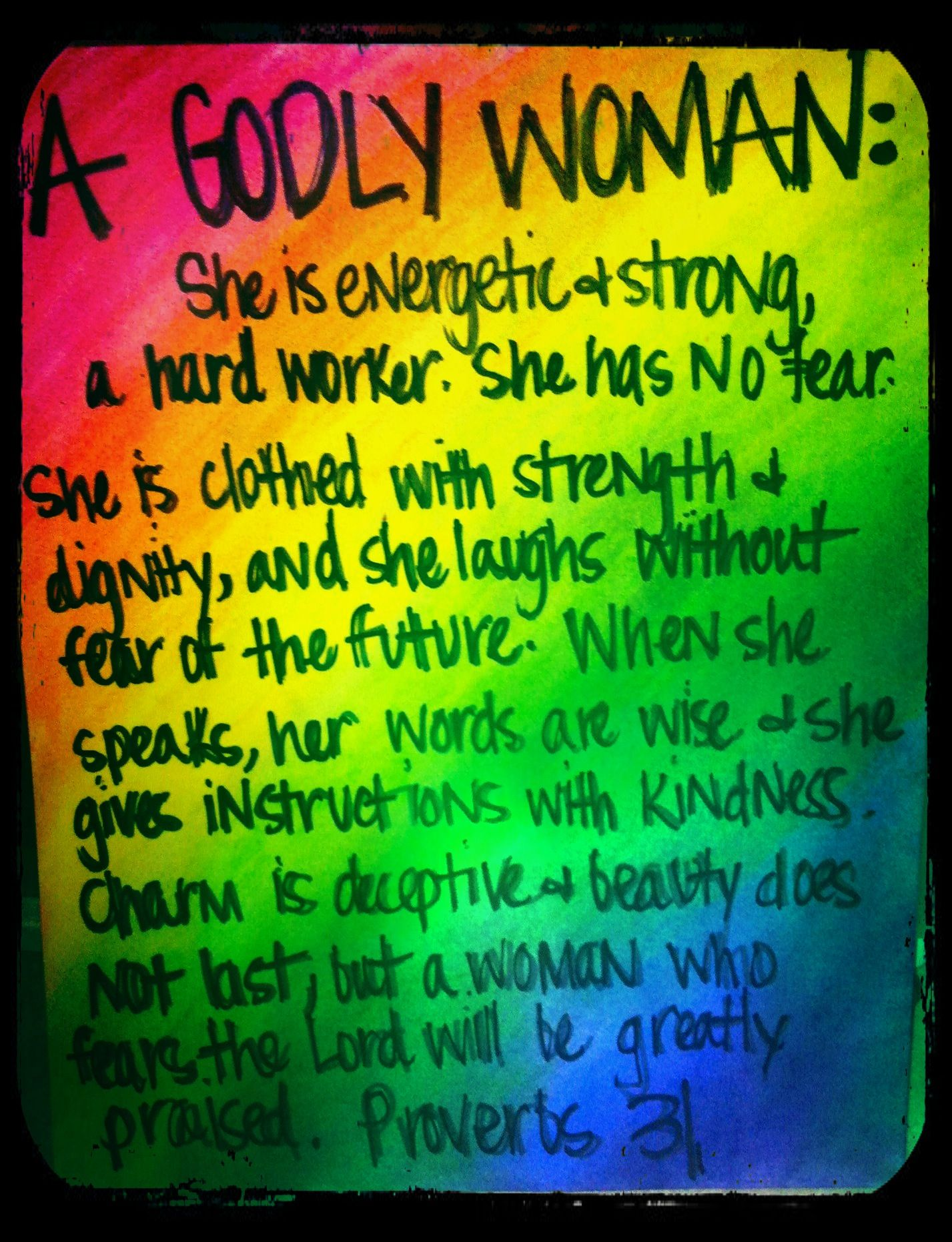 A GODLY WOMAN - Proverbs 31 | notable quotables | Quotes