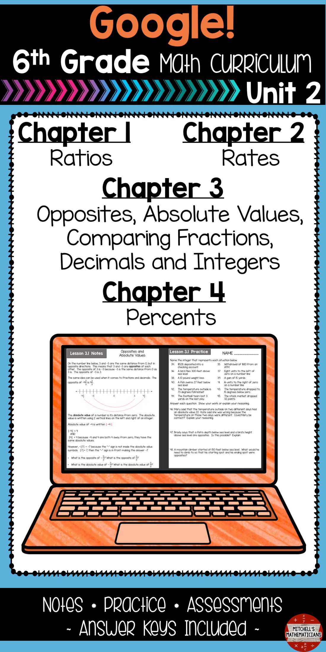 Ratios Rates And Unit Rates 6th Grade Math Unit Using