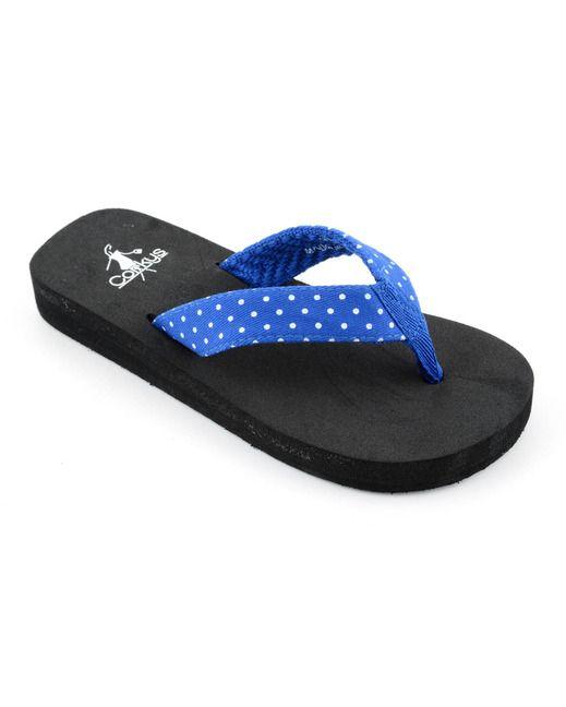 8d9503bb3bd0c Corkys Girl s Paris Flip Flop - Royal