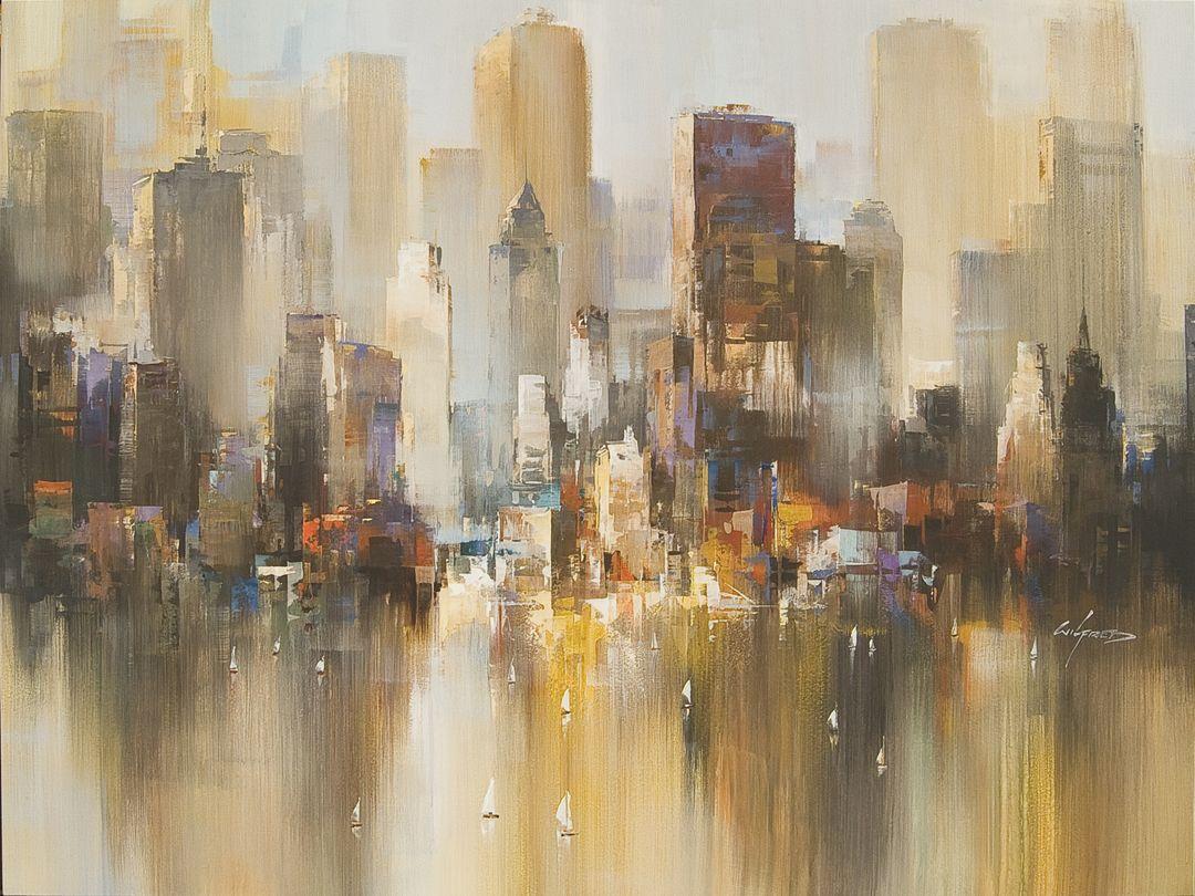 Abstract Urban Landscape Art