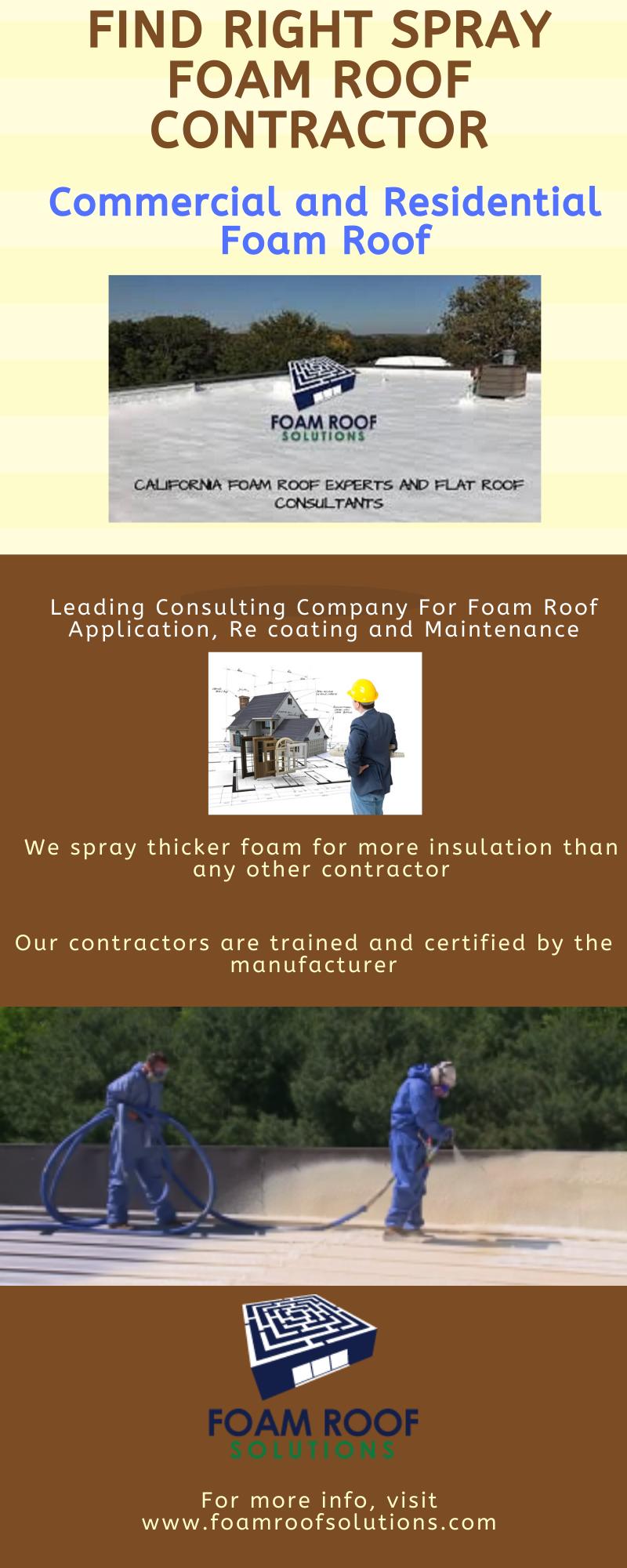 Find Right Spray Foam Roof Contractor In 2020 Foam
