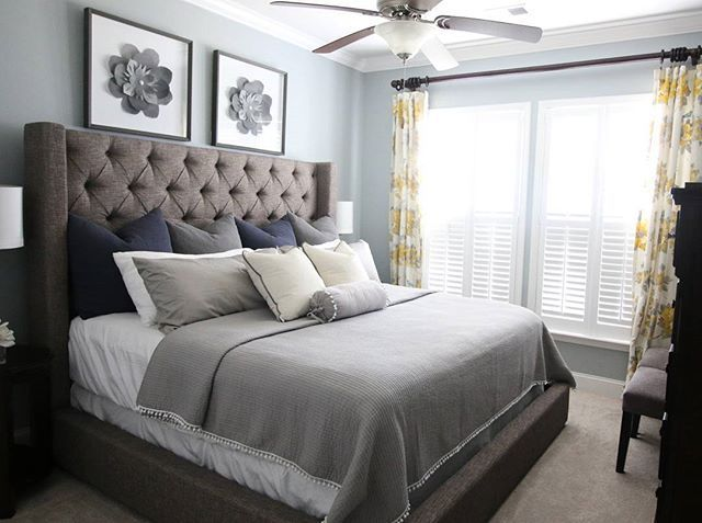 Luxury Master Bedroom Design Glamour Tufted Headboards