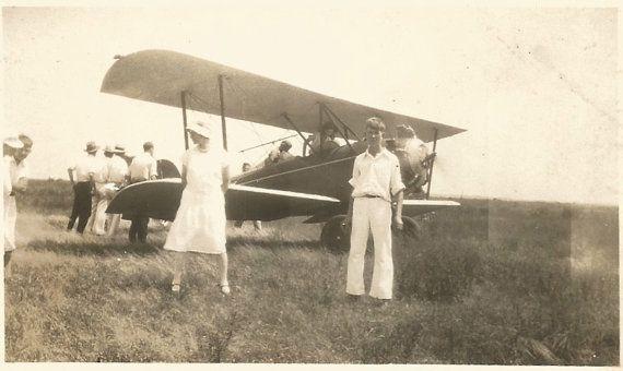 Biplane  Vintage Photo  Air Show  Crop by SunshineVintagePhoto