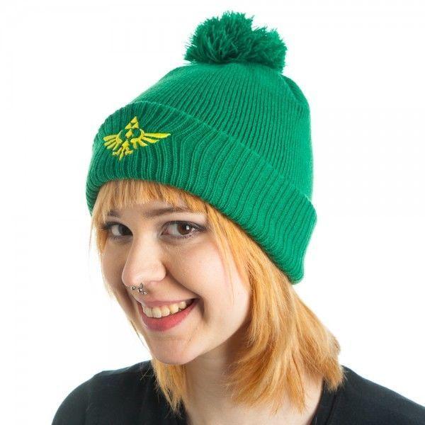 d83a6ba24eb Nintendo zelda triforce logo pom beanie hat cap beanie cosplay comics new  hat zelda beanie green