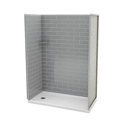 Utile 32 Inch X 60 Inch Alcove Shower Stall In Metro Ash Grey
