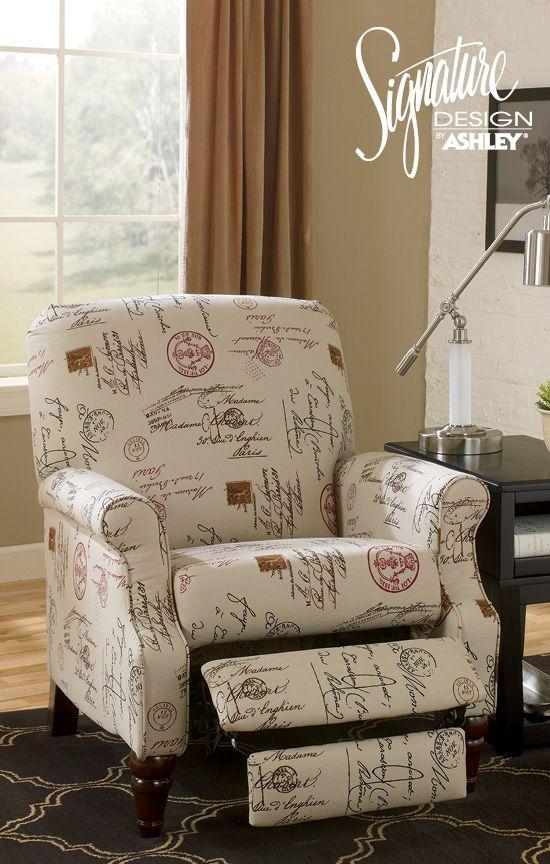 Recliner Living Room Furniture Placido Script Recliner