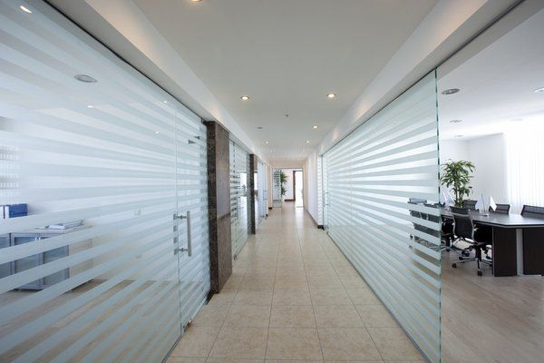glass office partitions ideas contemporary office design room ...