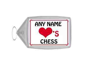 Love #heart #chess personalised #keyring,  View more on the LINK: http://www.zeppy.io/product/gb/2/171801467897/