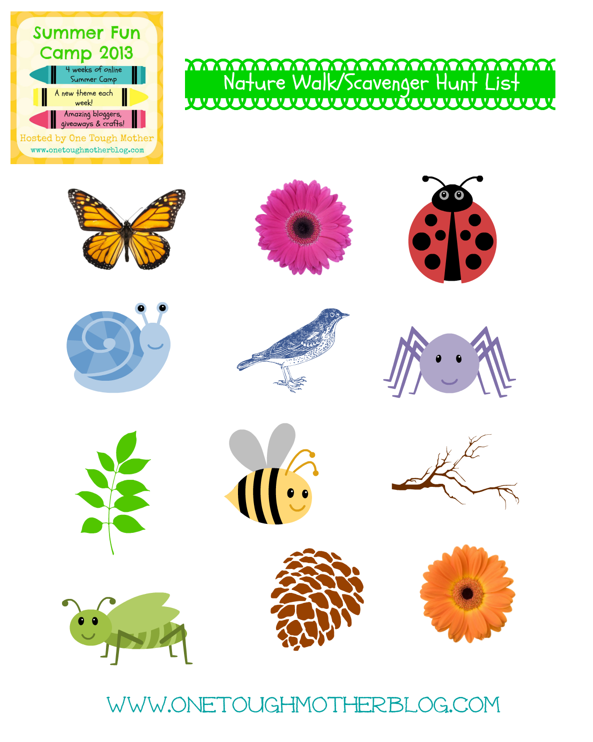 Scavenger Hunt Printable List With Images