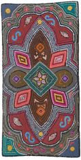 "Handmade Hooked Rug of Recycled Clothing from Guatemala 1-12 (24"" x 48"")"