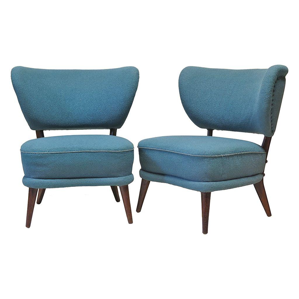 Brilliant Pair Of 1Stdibs Armchairs Wingback Slipper European Mid Theyellowbook Wood Chair Design Ideas Theyellowbookinfo