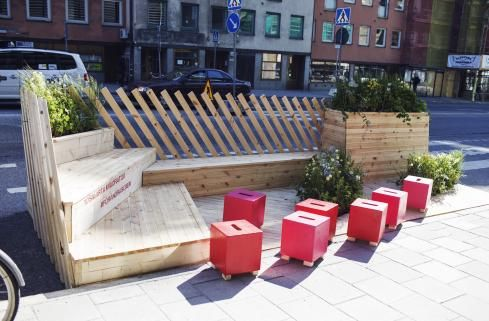 Public Parklet Parking Design Architecture Street