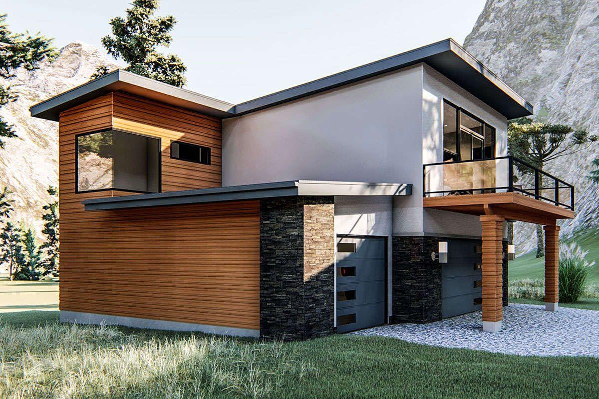 House Plan 96300357 Modern Plan 932 Square Feet, 1