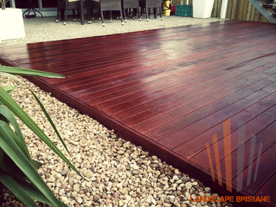 Landscape Brisbane Kwila Decking With Jarrah Stain Hand Nailed Top Quality View Our Website For More Pics And Idea Hardwood Decking Timber Deck Outside Living