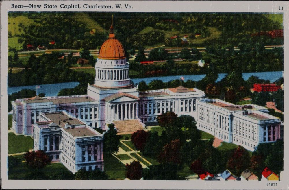 Vintage Linen Postcard 1954 New State Capitol Charleston