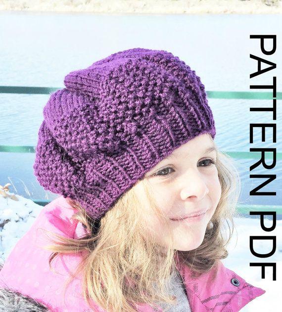 d6d4f34d6e530 PDF Knitting Pattern Beret Vera Brittain Tam Testament of Youth WW1 Era Tam  Hat