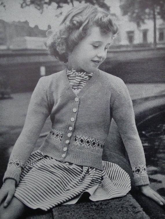 Sentinel Knitwear No 168 Back To School Vintage 1950s Original