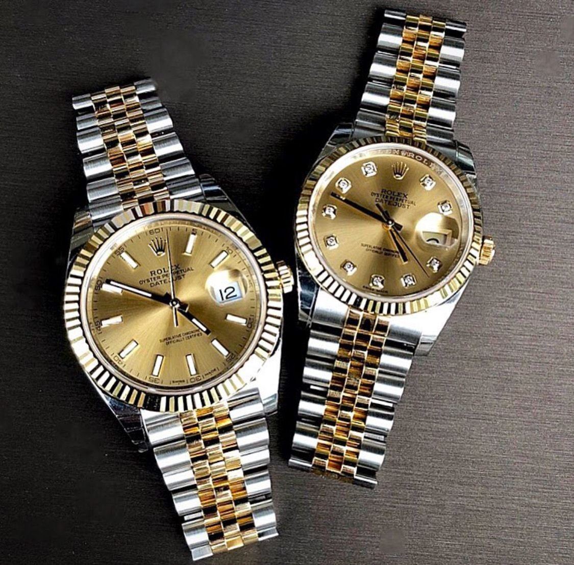 Rolex DateJust in his and hers in 2019