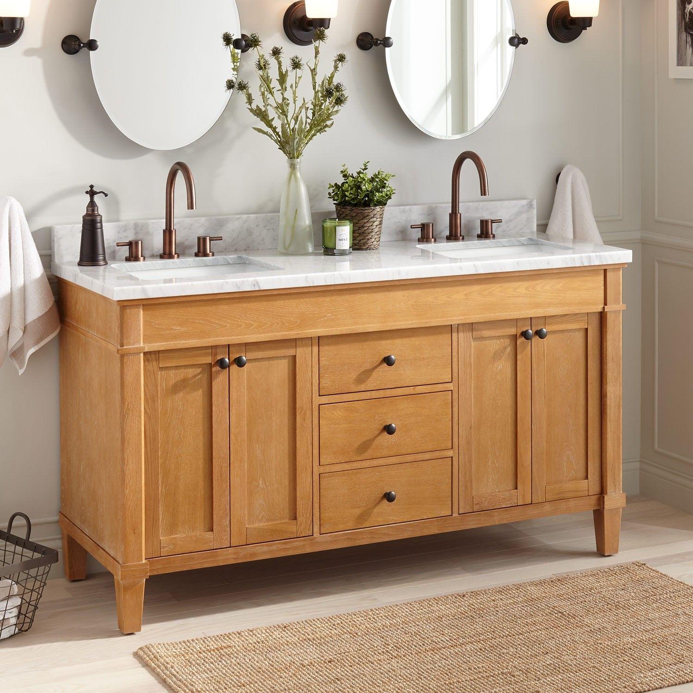 60 Marilla Double Vanity For Rectangular Undermount Sinks