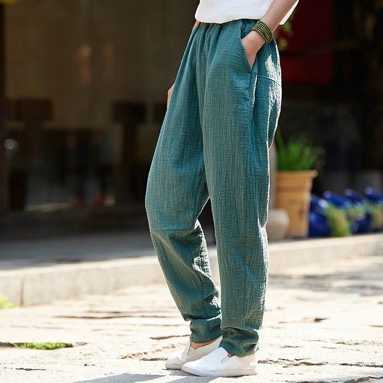 bc8a8e33b07c88 2018 NEW! Women Linen and Cotton Tapered Pants – Original Casual Loose Linen  Tapered Trousers by OsonianClothing on Etsy