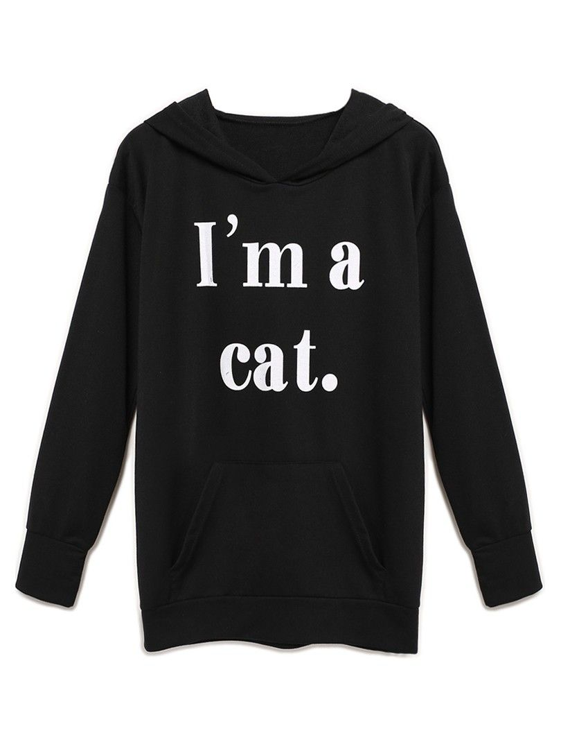 New at Lazaara the Black Letter Print Pocket Detail Cat Ear Hoodie for only  17,60 €  you safe  33%.  Available Options:  SIZE: S,M,L,XL  COLOR: Black https://www.lazaara.com/en/fashion/3085-black-letter-print-pocket-detail-cat-ear-hoodie.html  #Lazaara #Amazing #Shopping #AmazingShopping #LazaaraAmazingShopping