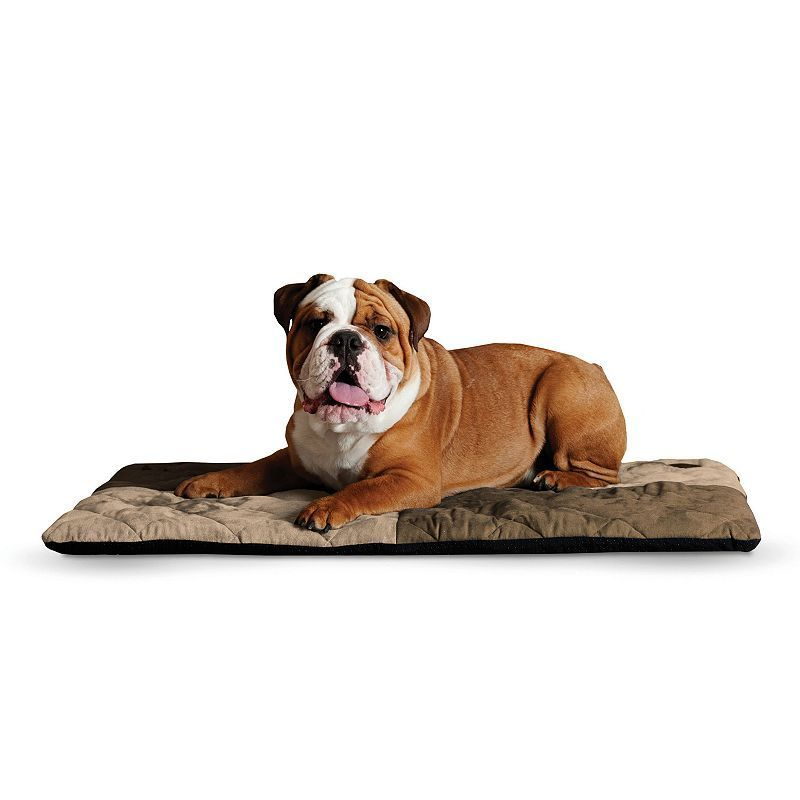 KandH Quilted Memory Dream 2-in. Thick Pet Bed - 37'' x 52'', Brown