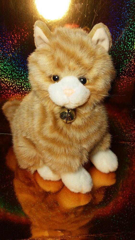 Tabby Cat Plush Stuffed Animal Orange A A Realistic Bells On Rare