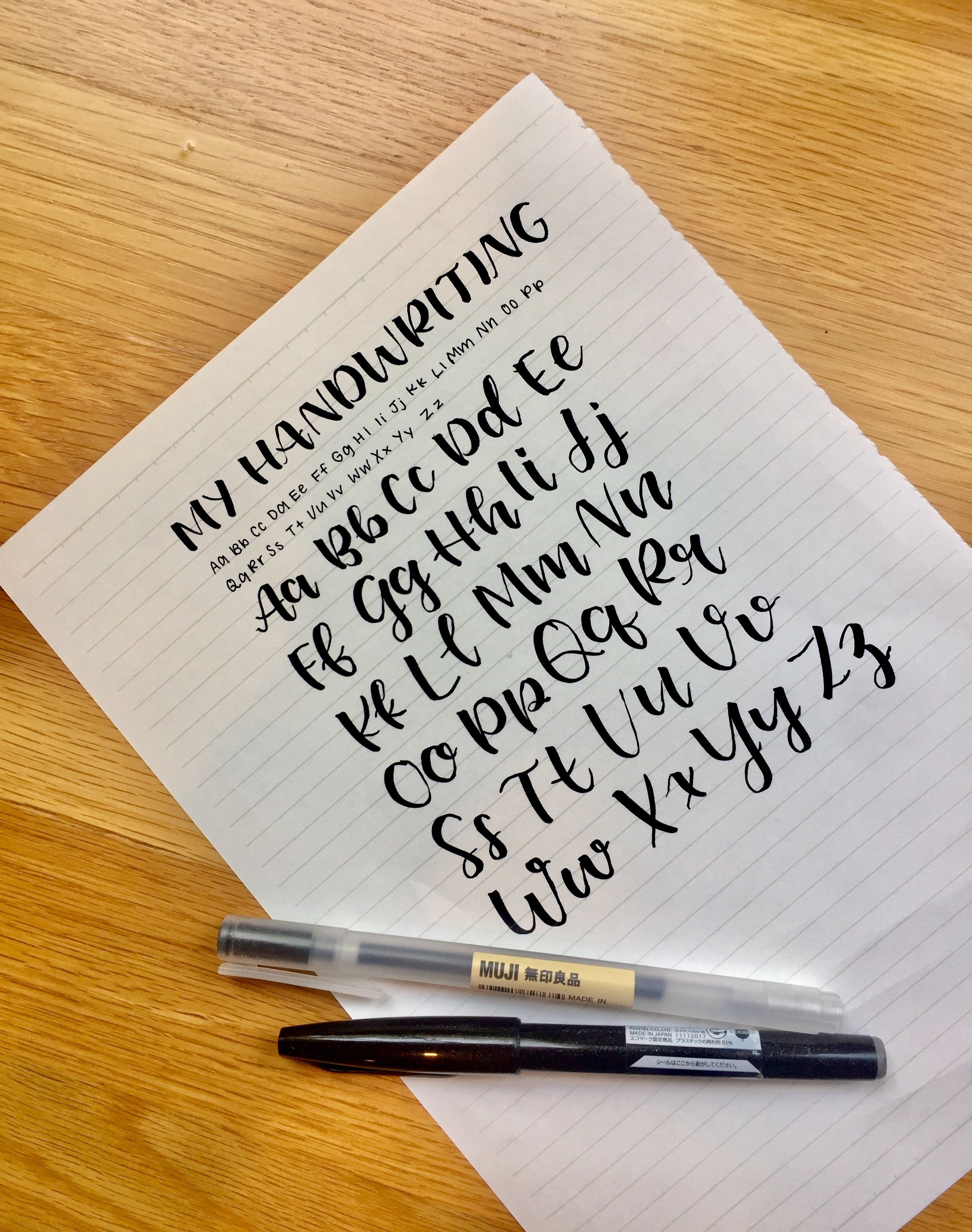 My Handwriting Inspired By Jasmine From Studyquill Hand Lettering Tutorial Hand Lettering Alphabet Lettering Tutorial [ 3102 x 2448 Pixel ]