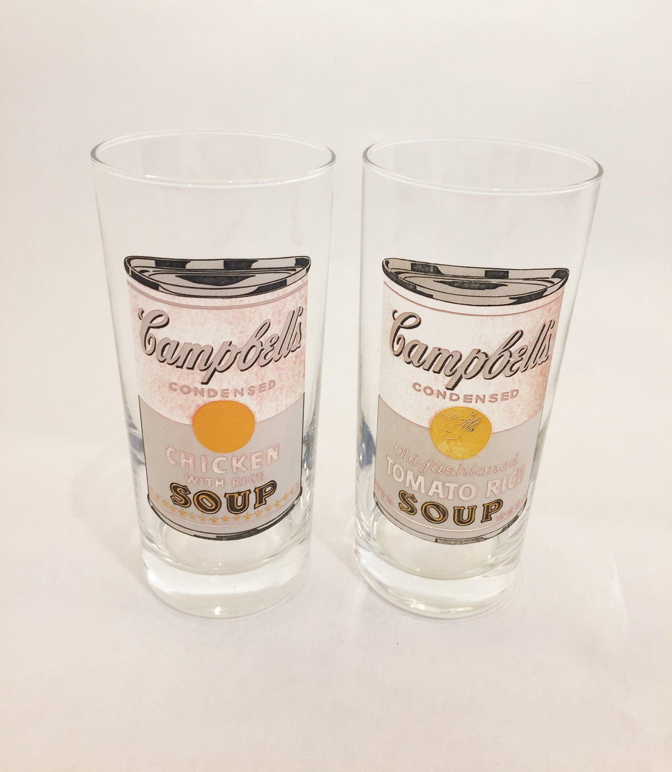 2 Vintage Andy Warhol glasses #andywarhol