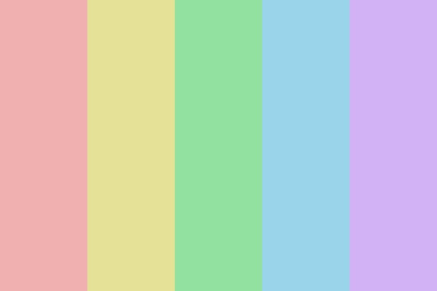 Pin On Rainbow Color Palettes