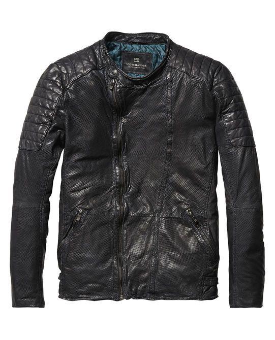 veste de motard en cuir vestes cuir habillement homme. Black Bedroom Furniture Sets. Home Design Ideas