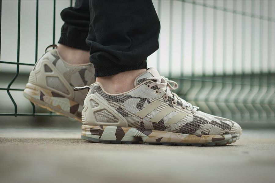 adidas zx flux camo homme