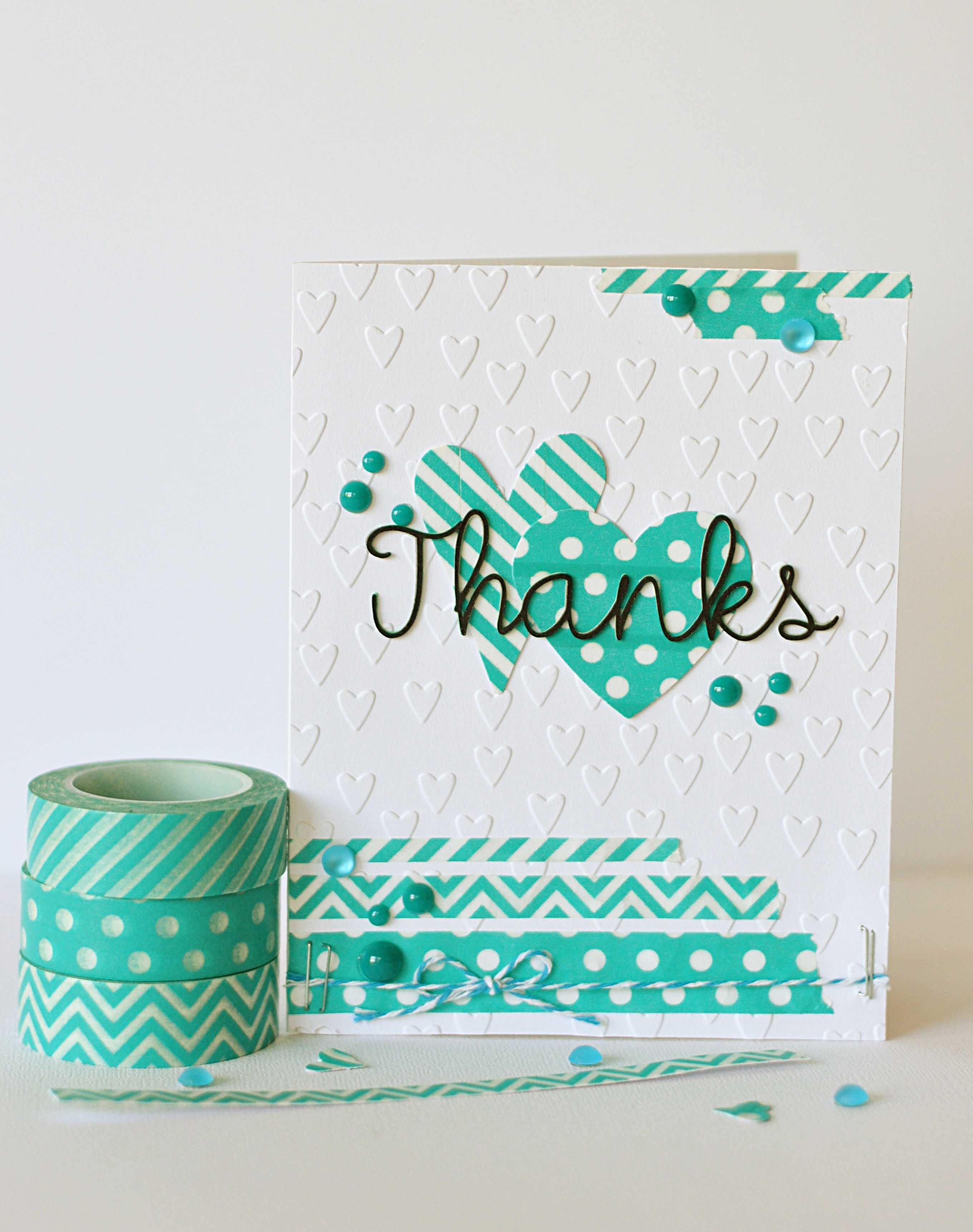 Card Making Ideas Using Washi Tape Part - 17: Thanks Card With New Queen And Co. Trendy Tapes In Turquoise. Part Of Our · Washi  Tape CardsWashi ...